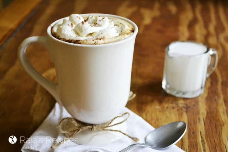 This herbal pumpkin mocha is just one of a HUGE collection of pumpkin spice recipes for pumpkin spice season! Rootsy.org