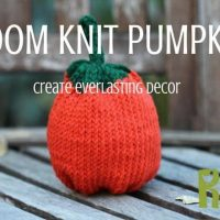 Create Loom Knit Pumpkins for Fall Decor with a free loom knitting pattern