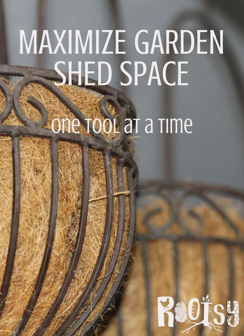 Gardeners, the size of your shed doesn't matter. You can maximize garden shed space by applying these space-saving techniques to maximize your storage | Rootsy.org
