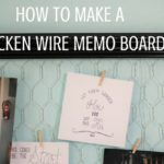 Chicken wire memo boards are a great way to upcycle old frames into something useful. Learn how to make chicken wire memo boards for any room in your house. | Rootsy.org