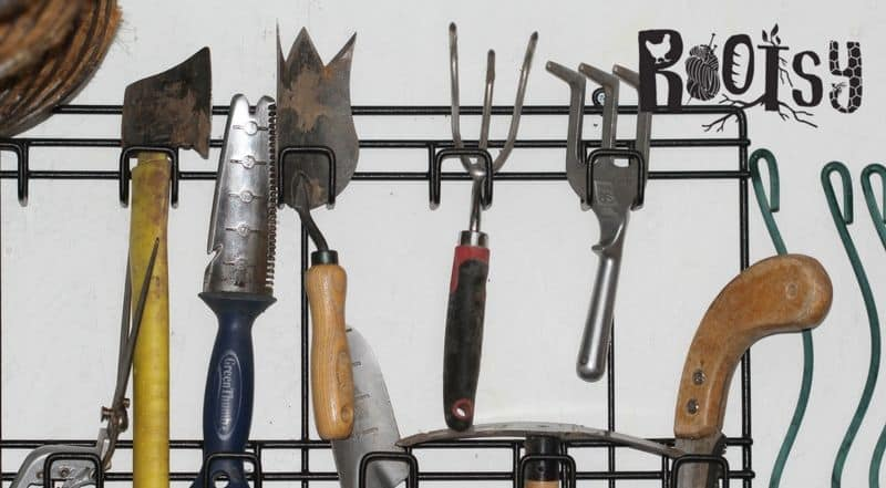 Consider a tool organizer to maximize garden shed space | Rootsy.org
