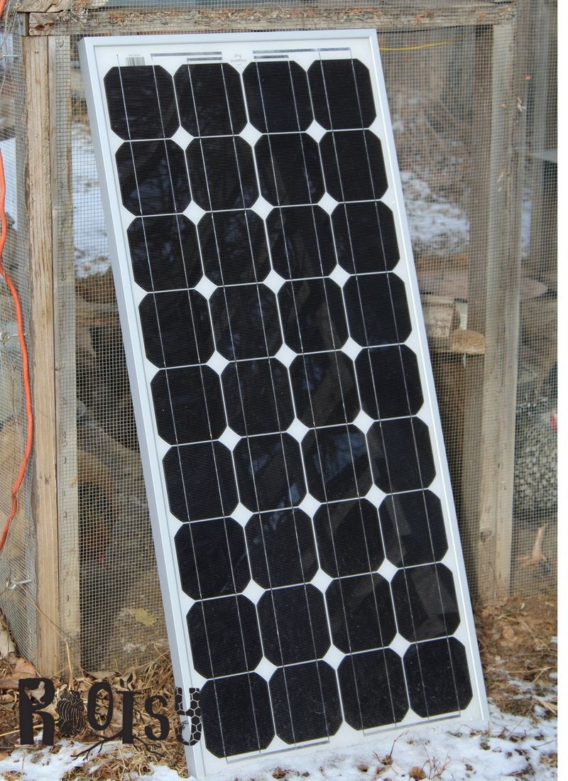 An additional large solar panel. Experiencing the ebb and flow of egg production? You can safely provide supplemental chicken coop lighting when you take these factors into consideration. | Rootsy.org