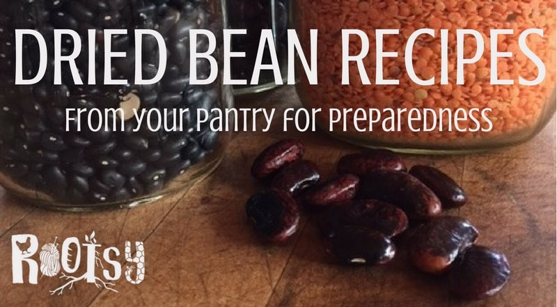 Dried Bean Recipes from your pantry for preparedness | Rootsy.org