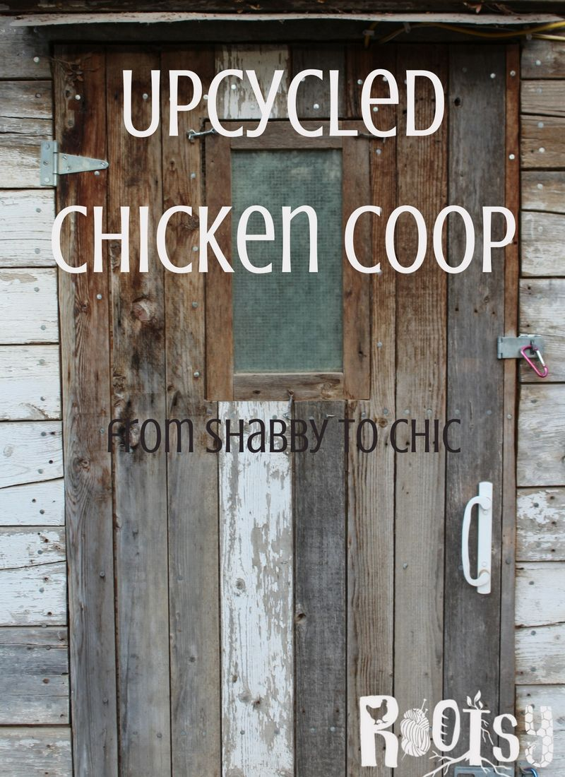 This DIY upcycled chicken coop cost around $100. With recycled items, you really can get into your dream of raising a backyard flock for very little money | Rootsy.org