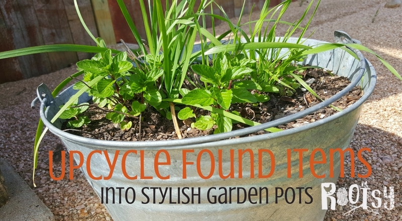 Use these ideas to upcycle items into garden pots. You'll be surprised how much produce can be grown if you think of these items in new ways | Rootsy.org