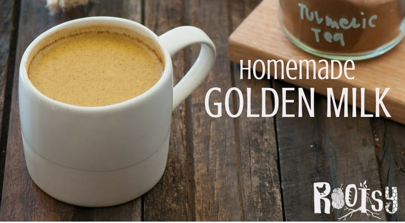Have you ever heard of Golden Milk? It's not actually a dairy beverage. It's a nutrient rich drink with turmeric and spices in a coconut milk base. Learn how to make it in this post from Rootsy