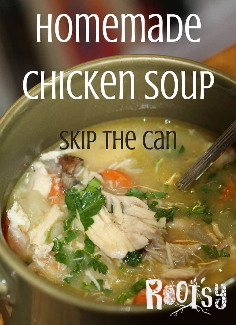 Skip the can! Tasty, homemade chicken soup is within your culinary abilities.  Make homemade chicken soup for you and your family  Rootsy.org