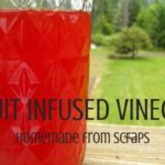 Homemade fruit infused vinegar is an excellent way to use fruit scraps, save money, and create something extra tasty | Roosty.org