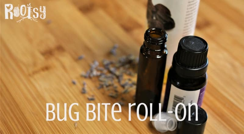 Bug bites are a fact of summer, but they don't have to be bothersome or irritating. You can easily put this project together with 2 ingredients you probably already have around the house and a roller bottle | Rootsy.org