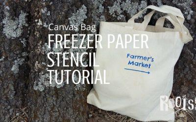 Canvas Bag Freezer Paper Stencil Tutorial