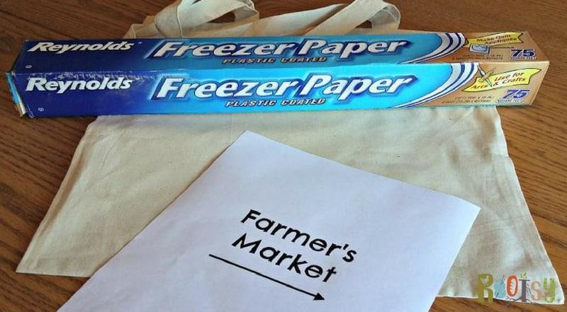 Canvas Bag Freezer Paper Stencil Tutorial | Rootsy Network