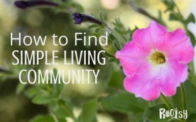 How to Find a Simple Living Community