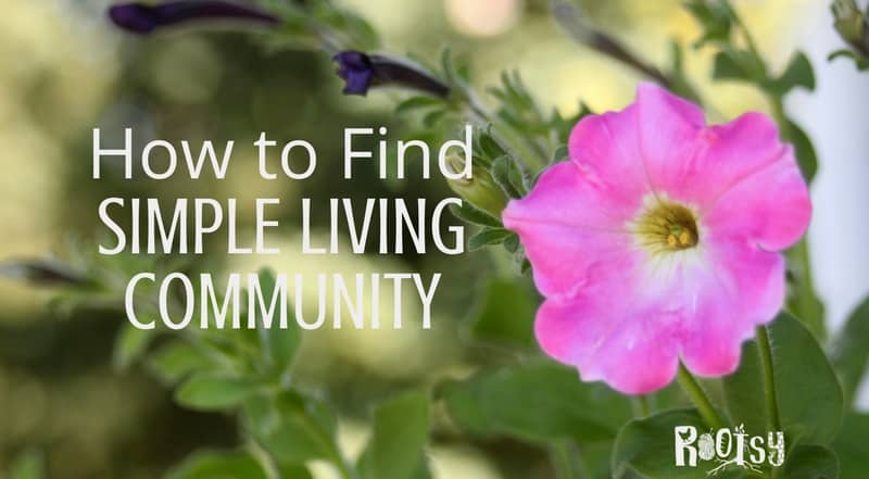 Living a handmade, simple life can be an uphill battle sometimes. It is a worthwhile lifestyle but finding community support and like-minded friends can make it easier and more rewarding. Despite the best self-sufficient ideals and goals, we all need a simple living community to turn to and support now and then | Rootsy.org