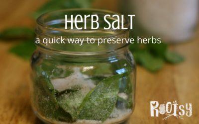Make Herb Salt to Preserve the Harvest