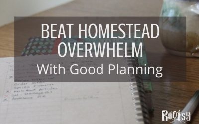 Beat Homestead Overwhelm with Good Planning