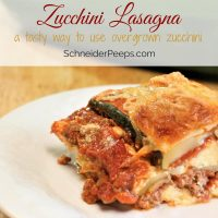Zucchini Lasagna {it's not about going low carb}