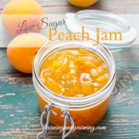 Homemade Low Sugar Peach Jam