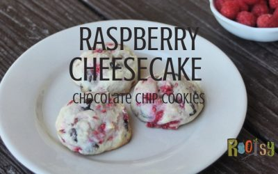 Raspberry Cheesecake Cookies with Chocolate Chips