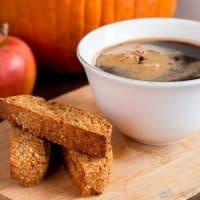 Pumpkin Spice Biscotti Cookies