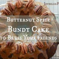 Butternut Spice Bundt Cake