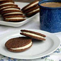 Caramel Mocha Sandwich Cookies