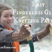 Easy Fingerless Gloves Knitting Pattern