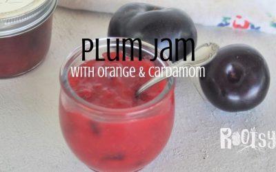 Plum Jam with Orange & Cardamom
