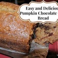 Easy Pumpkin Chocolate Chip Bread