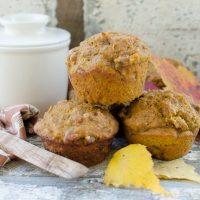 Pumpkin Nut Sourdough Muffins