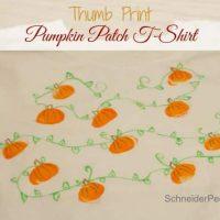 Thumb Print Pumpkin Patch T-Shirt