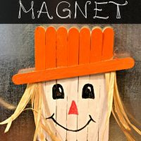 Popsicle Stick Scarecrow Magnet Craft for Kids!