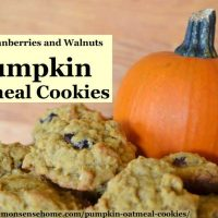 Soft Pumpkin Oatmeal Cookies with Cranberries and Walnuts