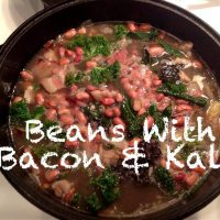 Beans with Bacon and Kale