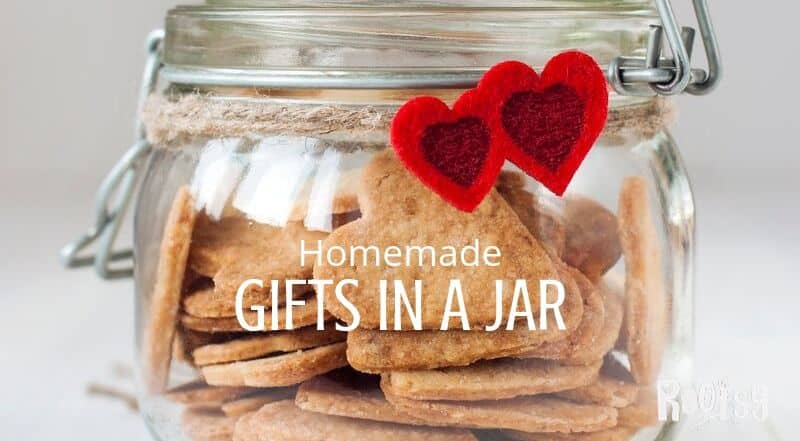 Homemade crackers in a jar.