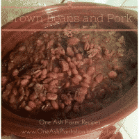 Brown Beans and Pork
