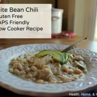 White Bean Chili Recipe, GAPS and SCD Friendly