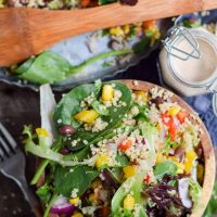 Quinoa Black Bean Summer Salad (Low-Fat, Vegan)