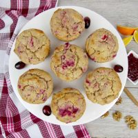 Cranberry Sauce and Walnut Muffins