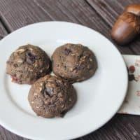 Chocolate Cranberry Sauce Cookies
