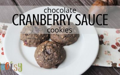 Chocolate Cranberry Sauce Cookies