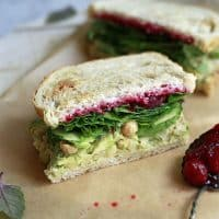 Vegan Smashed Chickpea and Avocado Salad Sandwich
