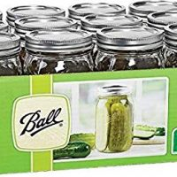 Ball Mason 32 oz Wide Mouth Jars with Lids and Bands, Set of 12 Jars.