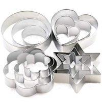 Cookie Cutters Set - Cookie Cutters Mini Geometric Shapes Cookie Cutters