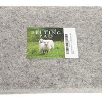 Needle Felting Pad, 8 x 10 x 1 inch, 100% Natural Wool, Firm, for Precision Felting
