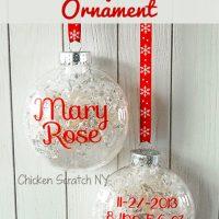 Birth Announcement Ornaments