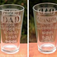 Dual-Sided Dad & Grandpa Established Etched Glass