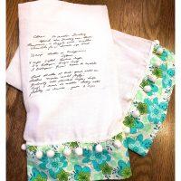 DIY Handwritten Recipe Tea Towel... - 2 Bees in a Pod