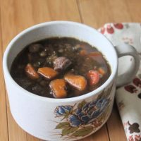 Lentil Stew with Beef & Sweet Potatoes