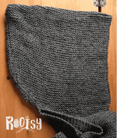 DIY Knit Hooded Scarf