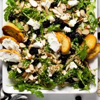 Arugula Salad with Dried Cherries and Goat Cheese